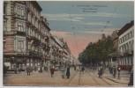 AK Wiesbaden Wilhelmstrasse viele Menschen 1920
