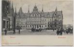 AK Wiesbaden Rathaus mit Menschen 1910