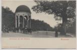 AK Wiesbaden Nerotempel auf dem Neroberg Pferdekutschen 1910