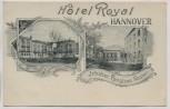 AK Hannover Hotel Royal Bes. Christian Kasten 1900