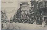 AK Hannover Georg-Strasse Strassenbahn viele Frauen 1905