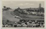 AK Nürburgring Partie Hatzenbach viele Menschen Rennwagen b. Adenau 1950 RAR