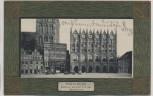 AK Stralsund Rathaus mit Teil der Nicolaikirche 1906