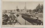 AK Grabow (Meckl) Am Hafen viele Schiffe 1940