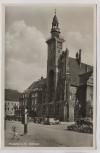AK Foto Frankfurt an der Oder Rathaus viele Autos 1934