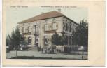 AK Gruss aus Hatten Restauration z. Bahnhof Elsass Bas-Rhin b. Wissembourg Haguenau 1905