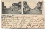 AK Gruss aus Hatten Hauptstraße Elsass Bas-Rhin b. Wissembourg Haguenau 1903