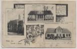 VERKAUFT !!!   AK Gruss aus Curow in Pommern Kirche Warenhandlung Kurów (Kołbaskowo) b. Stettin Szczecin Polen 1904 RAR