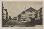 AK Foto Hermsdorf Thüringen Bahnhofstraße mit Hescho Verwaltungsgebäude 1940