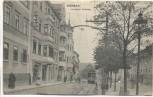 VERKAUFT !!!           AK Weimar Unterer Graben mit Straßenbahn Menschen 1914 RAR