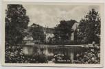AK Foto Bockwitz Krs. Torgau Ortsansicht mit Teich b. Belgern-Schildau Landpoststempel 1959