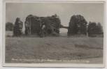 AK Foto Grünhain-Beierfeld Ruine der Oswaldskirche Dudelskirche im Erzgebirge Landpoststempel 1938