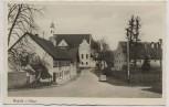 VERKAUFT !!!   AK Foto Grafrath an der Amper Straßenansicht mit Kirche Auto 1955