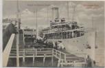 AK Ostseebad Binz Insel Rügen Ankunft des Stettiner Dampfers Hertha 1910