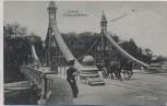 AK Lübeck Mühlentorbrücke mit Dame und Pferdekutsche 1910 RAR