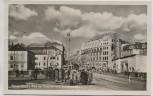 AK Plauen Vogtland Blick auf Postplatz und Bahnhofstraße viele Menschen 1954