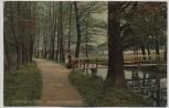 AK Lenzen an der Elbe Hagen-Promenade mit Dame 1910 RAR