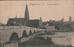 AK Regensburg a. D. Steinerne Brücke 1910