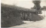 AK Foto Soldaten vor Unterstand 1.Weltkrieg 1915