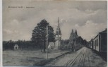 AK Baranowitschi Paradeplatz mit Denkmal 1. WK Weißrussland Feldpost 1918