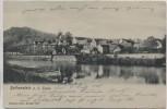 VERKAUFT !!!   AK Rothenstein a. d. Saale Ortsansicht mit Brücke b. Jena 1904