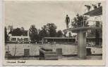 VERKAUFT !!!   AK Foto Schwabach Parkbad mit Turm und Schwimmer 1956 RAR