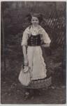 AK Foto Niederwiesa Mädchen Frau in Tracht 1912