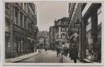 AK Foto Zweibrücken Hauptstraße viele Geschäfte Menschen 1935 RAR