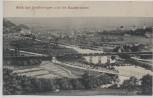 AK Blick auf Großheringen und die Saalebrücken Zug auf Gleis b. Bad Sulza 1913