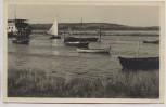 VERKAUFT !!!   AK Foto Am Hafen zu Vitte Boote Schiffe Hiddensee 1953