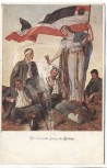 AK Offizielle Postkarte Patriotika 1.Weltkrieg Die deutsche Frau im Kriege Rotes Kreuz 1915