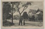 AK Heide (Holstein) Neue Anlage Straßenansicht mit Menschen 1924