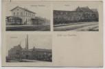 AK Gruß aus Kapellen (Grevenbroich) Bahnhof Mühle Brauerei Feldpost 1915
