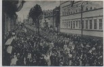 AK Clausthal-Zellerfeld Die neue Garnison Ankunft der Jäger Straßenansicht 1917