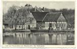 AK Cafe und Pensionshaus zur Klostermühle Helfern b. Bad Rothenfelde besonderer Stempel 1958