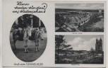 AK Gruß vom Sennelager 2 Esel Neues Lager Diebesturm b. Paderborn 1935