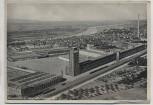 AK Rüsselsheim a. Main vom Flugzeug aus Opel-Werke mit Gleis und Zug 1935