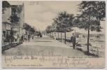 AK Gruss aus Binz Strandpromenade mit Familienbad Rügen 1905