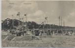 AK Ostseebad Graal-Müritz Strandpartie Fahnen 1912