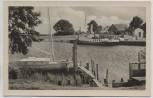 AK Foto Ostseebad Prerow auf Darß Hafen Schiffe 1954