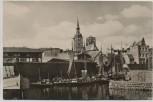AK Foto Stralsund Flotthafen Boote 1958