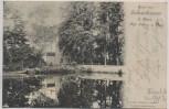 AK Gruss aus Jahnishausen b. Riesa Kgl. Schloss u. Park 1902