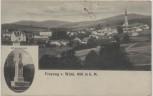 AK Freyung v. Wald Ortsansicht mit Kriegerdenkmal Bayern 1928 RAR