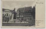 AK Braunschweig Burgplatz mit Gildehaus und Löwe 1930