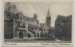 AK Braunschweig Burgplatz mit Burg und Rathausturm 1930
