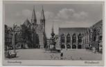AK Braunschweig Altstadtmarkt mit Brunnen Menschen Seitenwagen 1940