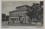 AK Braunschweig Staatstheater mit Menschen 1940
