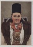 Künstler-AK Hans Retzlaff Braut aus Urwegen im Untnerwald Siebenbürgisch-sächsische Volkstrachten Nr. 2 VDA 1935