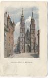 AK Künstlerkarte Nürnberg Lorenzkirche 1908