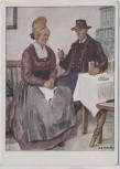 Künstler-AK M. E. Fossel Niederdonau Wachau Mann und Frau in Tracht Österreich Ostmärkische Volkstrachten VDA Nr. 7 1935